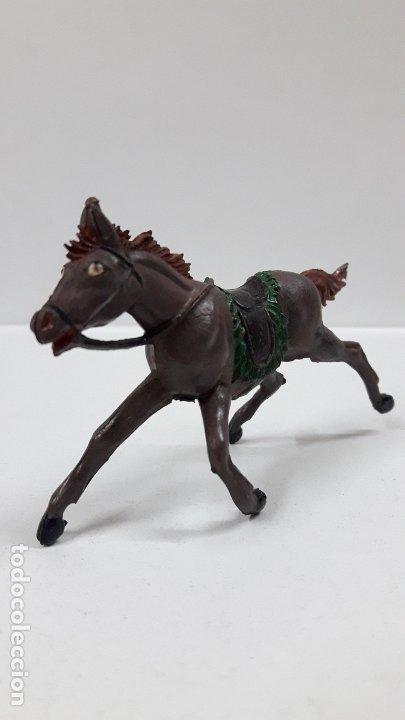 Figuras de Goma y PVC: CABALLO PARA VAQUERO - COWBOY . REALIZADO POR PECH . AÑOS 50 EN GOMA - Foto 4 - 180130452