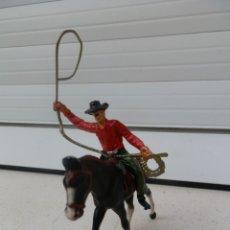 Figuras de Goma y PVC: 1 COWBOY DEL OESTE AMERICANO A CABALLO DE COMANSI. . Lote 180133513