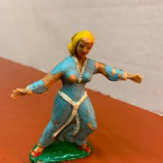 Figuras de Goma y PVC: SIGRID DEL CAPITAN TRUENO, ANTIGUA FIGURA ESRTEREOPLAST JIN, ORIGINAL AÑOS 60. Lote 180170842