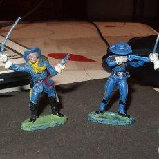 Figuras de Goma y PVC: 4 FEDERALES Y CONFEDERADOS,REAMSA O JECSAN O ASTER,SERIE PEQUEÑA,AÑOS 60. Lote 180172512