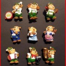 Figuras Kinder: FIGURAS SORPRESA HUEVOS KINDER OSOS ZIRKUS FANTINI 1996 COLECCION COMPLETA. Lote 180185043