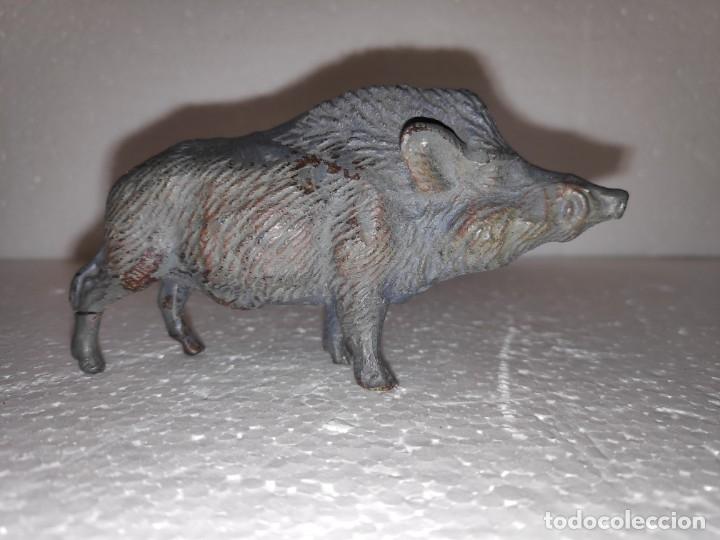 Figuras de Goma y PVC: Jabalí Lineol años 50 compatible con arcla, pech, lafredo - Foto 2 - 180188656