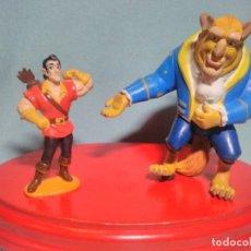 Figuras de Goma y PVC: 2 FIGURAS DE BELLA Y BESTIA DE DISNEY , EN GOMA PVC.. Lote 180221540
