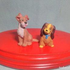 Figuras de Goma y PVC: 2 FIGURAS DE DAMA Y VAGABUNDO DE DISNEY , EN GOMA PVC.. Lote 180221865