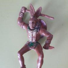 Figuras de Goma y PVC: GUERRERO INDIO LAFREDO PARA CABALLO SERIE GRANDE. Lote 180245373