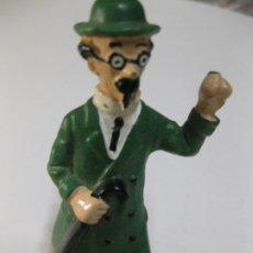 Figuras de Goma y PVC: FIGURA DE GOMA PROFESOR TORNASOL TINTIN BULLYLANG HERGE MADE I GERMANY. FALTA DEDO INDICE. Lote 180343942