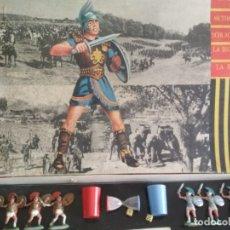 Figuras de Goma y PVC: CAJA Y FIGURAS ROJAS Y MALARET. Lote 180420728