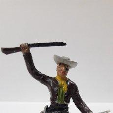 Figuras de Goma y PVC: VAQUERO - COWBOY . REALIZADO POR M. SOTORES . AÑOS 50 EN GOMA. Lote 180449805
