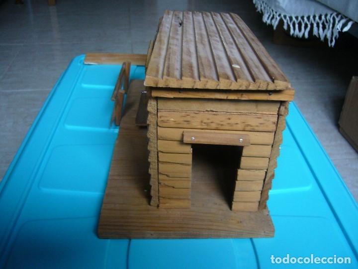 Figuras de Goma y PVC: RANCHO DE MADERA POSIBLE TEIXIDO - Foto 3 - 180464338