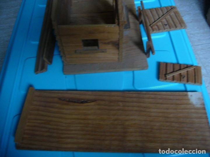 Figuras de Goma y PVC: RANCHO DE MADERA POSIBLE TEIXIDO - Foto 10 - 180464338