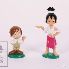 Figuras de Goma y PVC: PAREJA DE FIGURAS DE GOMA / PVC - MARCELINO PAN Y VINO - SERIE DE DIBUJOS TV - JOCKY TEAM, 2000. Lote 180469833