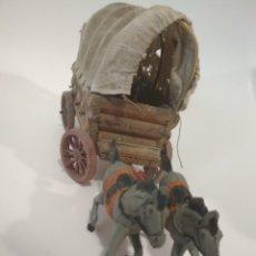 Figuras de Goma y PVC: CARAVANA PECH AÑOS 50 CABALLOS EN GOMA. Lote 180487202