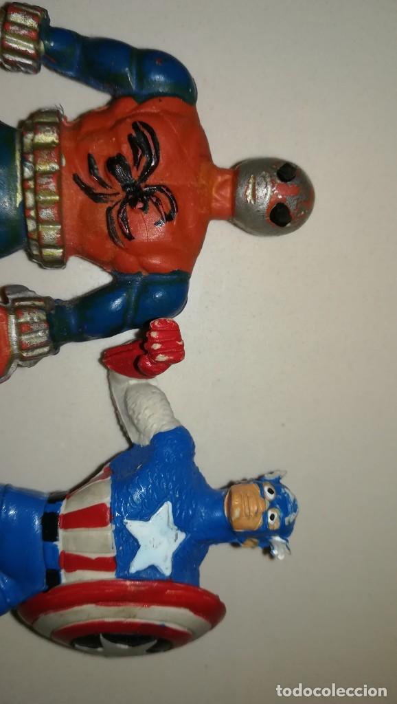 Figuras de Goma y PVC: Lote PVC COMICS SPAIN Espinete capitan america filemon - Foto 5 - 180488280