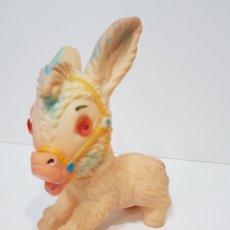 Figuras de Goma y PVC: MUY ANTIGUO MUÑECO DE SILBATO / BURRITO. Lote 180494380