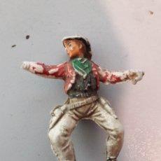 Figuras de Goma y PVC: VAQUEROS DE GOMA PECH. Lote 180509232