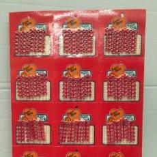 Figuras de Goma y PVC: PLIEGO DE 12 CARTONES DE FULMINANTES DE 72 TIROS. Lote 180867757