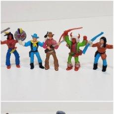 Figuras de Goma y PVC: LOTE 6 FIGURAS COMANSI / INDIOS, VAQUEROS, NORDISTAS Y XERIF. Lote 180981718