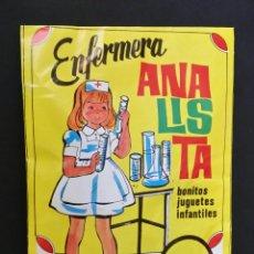 Figuras de Goma y PVC: SOBRE CERRADO TIPO MONTAPLEX ENFERMERA ANALISTA ALFREDO LOSADA. Lote 181193896