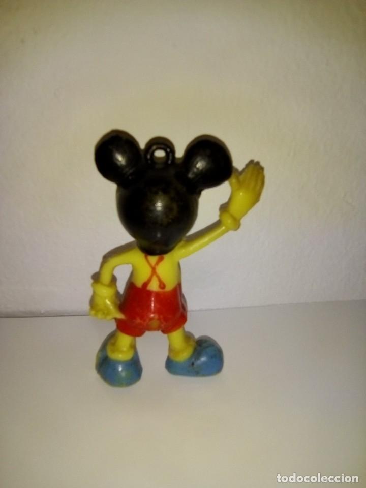 Figuras de Goma y PVC: ANTIGUA FIGURA MICKEY MOUSE DE PLASTICO DURO HUECO - Foto 2 - 181199406