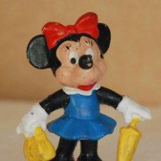Figuras de Goma y PVC: FIGURA GOMA MINNIE BULLYLAND MADE IN GERMANY - MICKEY MOUSE. Lote 181434433