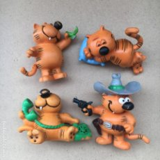 Figuras de Goma y PVC: LOTE 4 MUÑECOS PVC DE EL GATO ISIDORO PVC - COMICS SPAIN - ORIGINALES. Lote 168256692