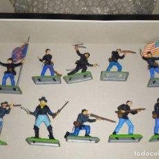 Figuras de Goma y PVC: SOLDADOS AMERICANOS BRITAINS DEETAIL NORDISTAS OESTE FART WEST. Lote 181612743