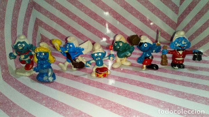 LOTE Nº1 DE 7 FIGURAS DE PVC DE LOS PITUFOS DE LOS AÑOS 80, VER FOTOS (Juguetes - Figuras de Goma y Pvc - Otras)