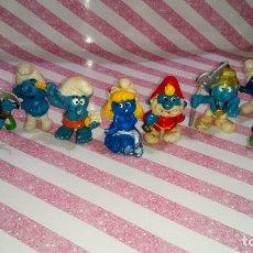 Figuras de Goma y PVC: LOTE Nº3 DE 8 FIGURAS DE PVC DE LOS PITUFOS DE LOS AÑOS 80, VER FOTOS. Lote 181627437