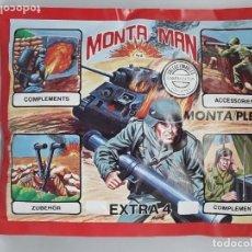 Figuras de Goma y PVC: SOBRE MONTA-MAN EXTRA 4 MONTAPLEX NUEVO SIN ABRIR. Lote 181714727