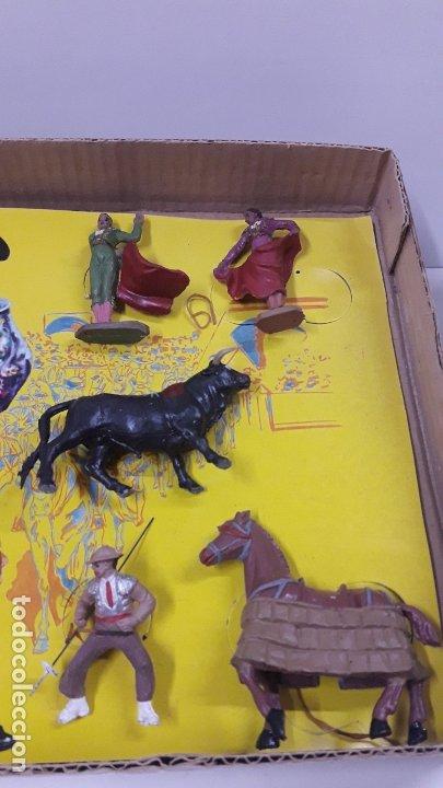 Figuras de Goma y PVC: CAJA ORIGINAL DE LA CORRIDA DE TOROS . REALIZADA POR PECH . AÑOS 60 - Foto 5 - 181887223