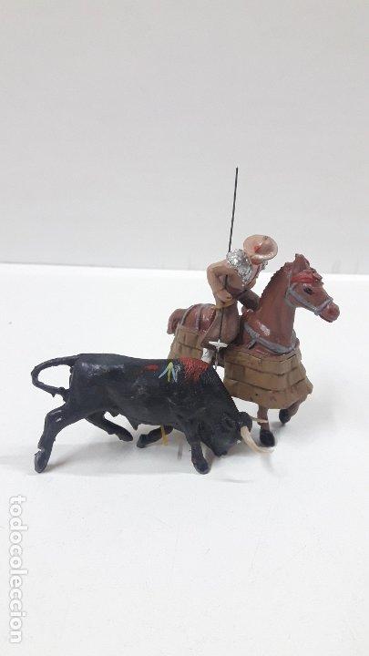 Figuras de Goma y PVC: CAJA ORIGINAL DE LA CORRIDA DE TOROS . REALIZADA POR PECH . AÑOS 60 - Foto 13 - 181887223