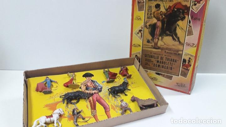 Figuras de Goma y PVC: CAJA ORIGINAL DE LA CORRIDA DE TOROS . REALIZADA POR PECH . AÑOS 60 - Foto 14 - 181887223