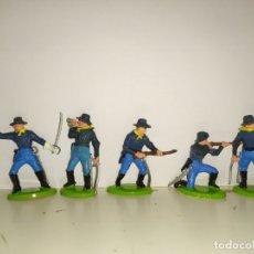 Figuras de Goma y PVC: SOLDADOS BRITAINS MADE HONG KONG AMERICAN CIVIL WAR. Lote 181892671