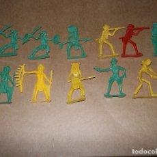 Figuras de Goma y PVC: INDIOS Y VAQUEROS LOTE NO MONTAPLEX, EJUSA, COMANBOYS, COMANSI.... Lote 181965766