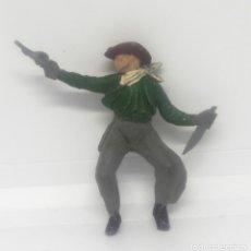 Figuras de Goma y PVC: VAQUERO O COW BOY PARA CABALLO FABRICADO EN GOMA POR REAMSA O TEIXIDO EN LOS 50. Lote 182063423