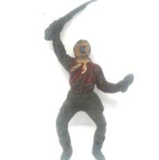 Figuras de Goma y PVC: VAQUERO O COW BOY PARA CABALLO FABRICADO EN GOMA POR TEIXIDO EN LOS 50. Lote 182064152