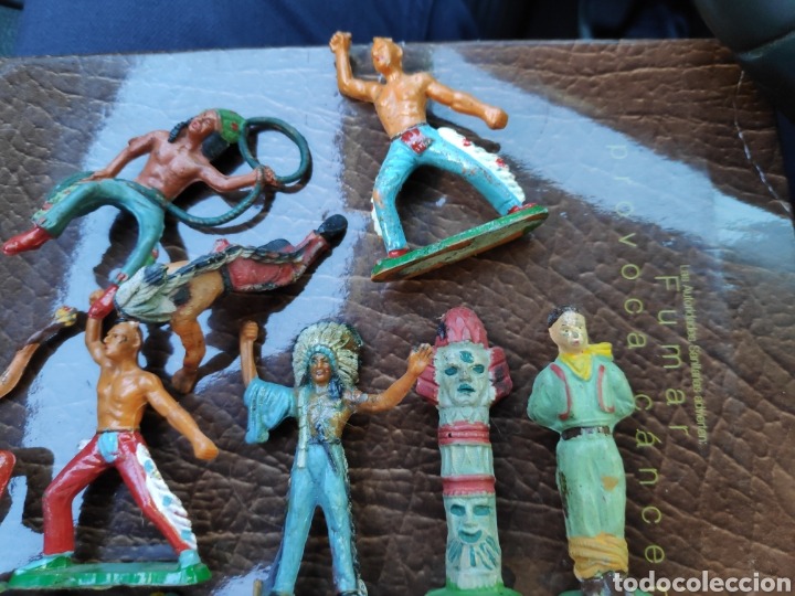 Figuras de Goma y PVC: Lote figuras antiguas starlux indios - Foto 2 - 182261470