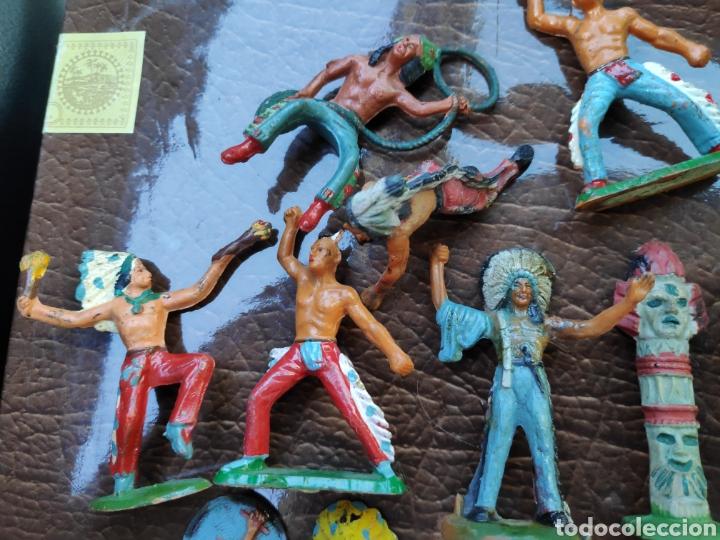 Figuras de Goma y PVC: Lote figuras antiguas starlux indios - Foto 4 - 182261470