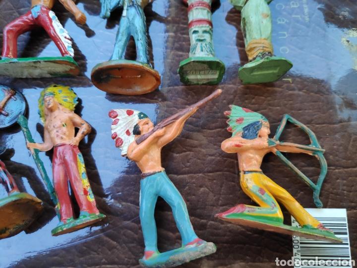 LOTE FIGURAS ANTIGUAS STARLUX INDIOS (Juguetes - Figuras de Goma y Pvc - Starlux)