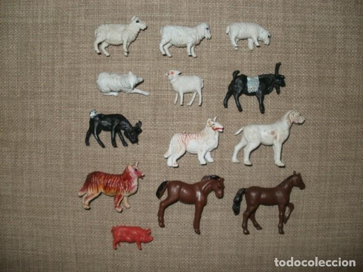 LOTE DE ANIMALES DE GRANJA DE PLASTICO MADE IN HONG KONG (Juguetes - Figuras de Goma y Pvc - Otras)