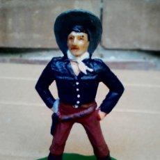 Figuras de Goma y PVC: FIGURA COWBOY VAQUERO REAMSA: ASALTO DILIGENCIA Y TREN FIGURA DE PLÁSTICO. Lote 182302901