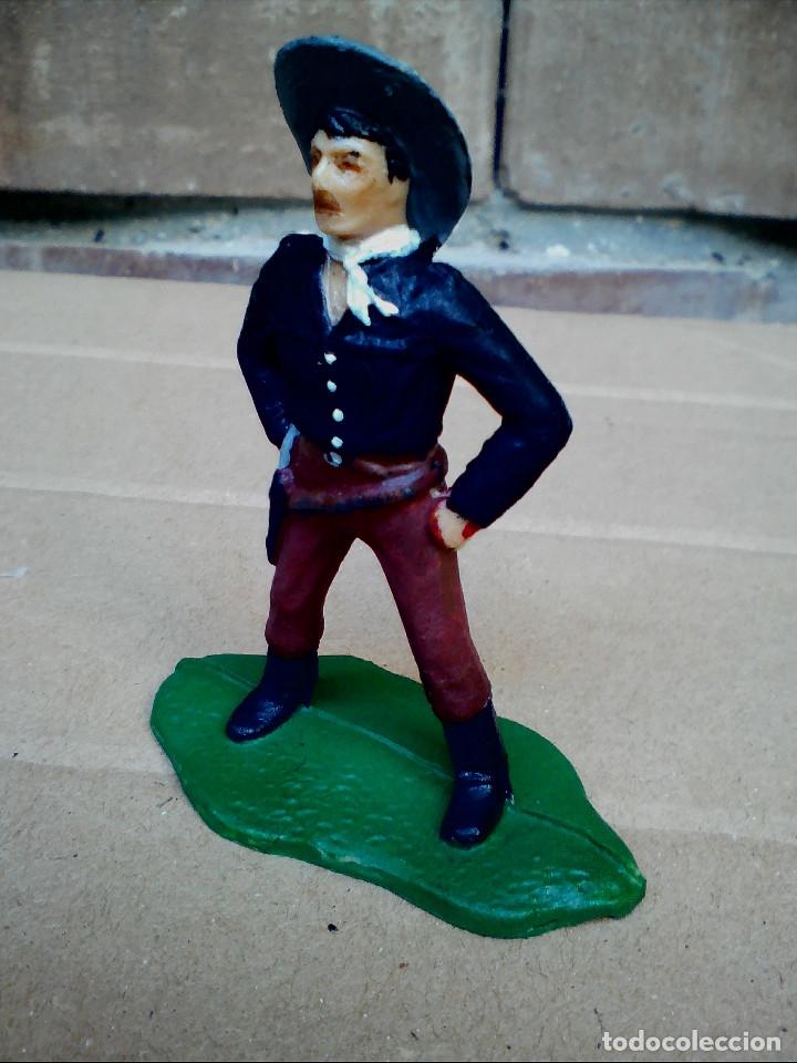 Figuras de Goma y PVC: FIGURA COWBOY VAQUERO REAMSA: ASALTO DILIGENCIA Y TREN FIGURA DE PLÁSTICO - Foto 7 - 182302901