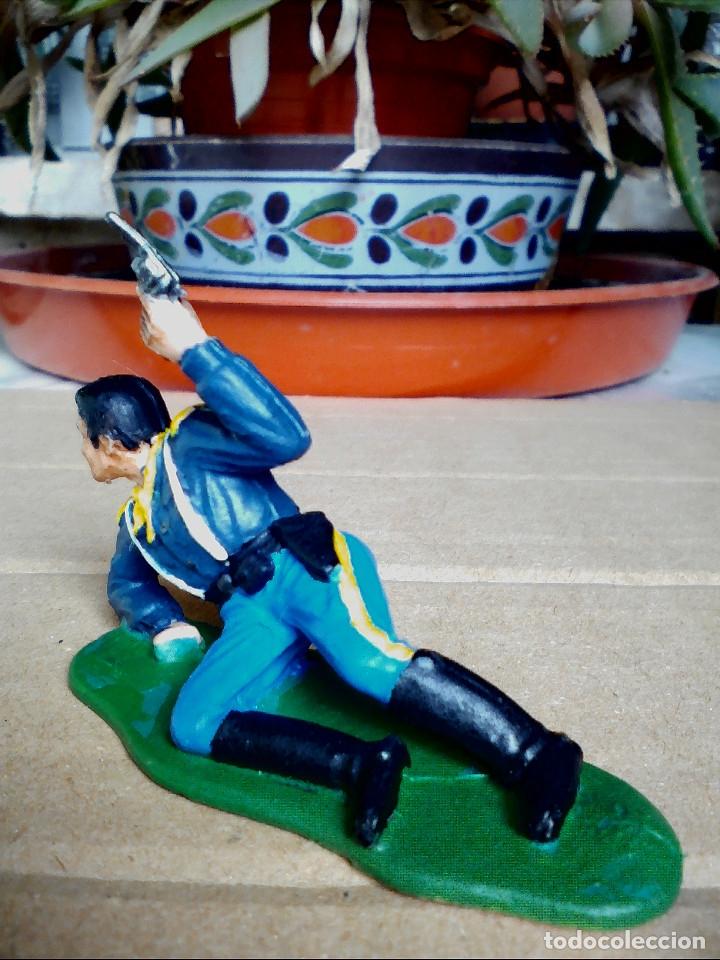 Figuras de Goma y PVC: FIGURA SOLDADO YANKEE, 7ºCABALLERÍA REAMSA: ASALTO AL TREN FIGURA DE PLÁSTICO - Foto 2 - 182331958