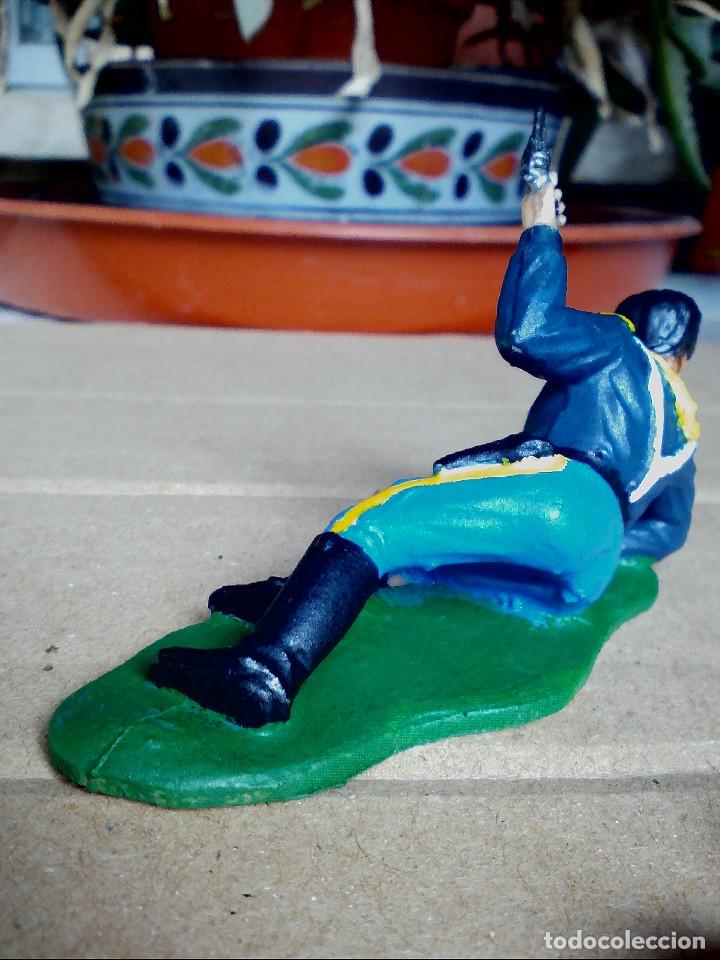 Figuras de Goma y PVC: FIGURA SOLDADO YANKEE, 7ºCABALLERÍA REAMSA: ASALTO AL TREN FIGURA DE PLÁSTICO - Foto 4 - 182331958