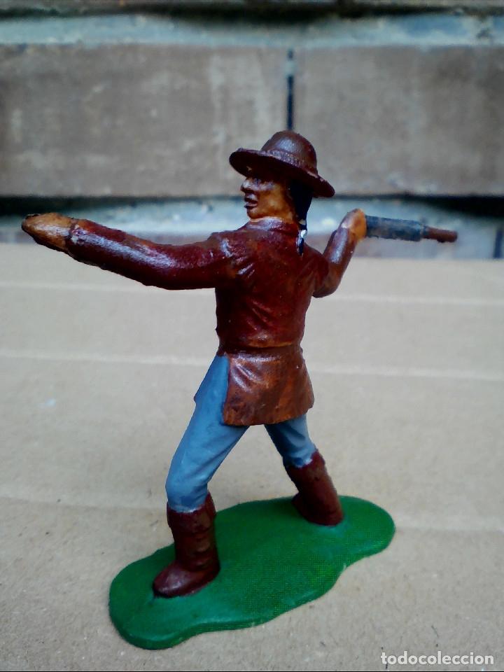 Figuras de Goma y PVC: FIGURA TRAMPERO INDIO REAMSA: POLICÍA MONTADA DEL CANADÁ DE PLÁSTICO - Foto 3 - 182350181