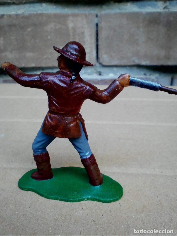 Figuras de Goma y PVC: FIGURA TRAMPERO INDIO REAMSA: POLICÍA MONTADA DEL CANADÁ DE PLÁSTICO - Foto 4 - 182350181