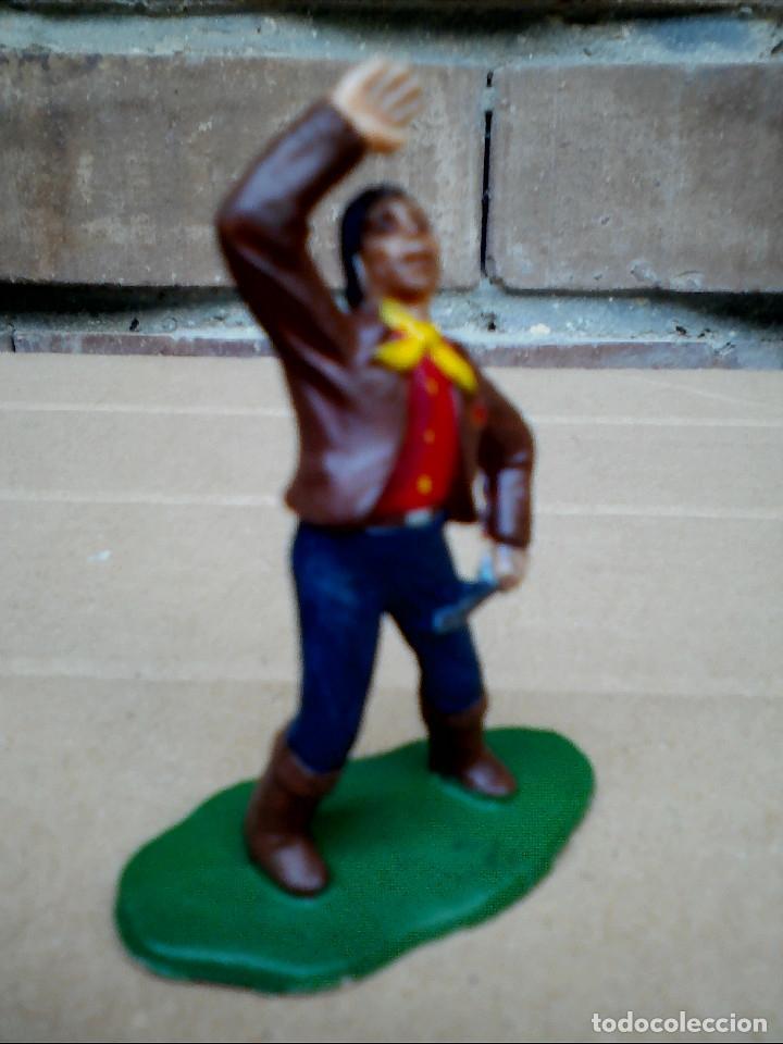Figuras de Goma y PVC: FIGURA TRAMPERO VAQUERO REAMSA: POLICÍA MONTADA DEL CANADÁ DE PLÁSTICO - Foto 5 - 182350868