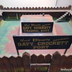 Figuras de Goma y PVC: FORT DAVY CROCKETT DE DISNEY AÑOS 50 EXTREMADAMENTE DIFICIL. Lote 182351893
