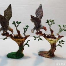 Figuras de Goma y PVC: FIGURAS PECH AGUILA CON NIDO EN ÁRBOL VERSIÓN EN GOMA Y PVC . Lote 182356571