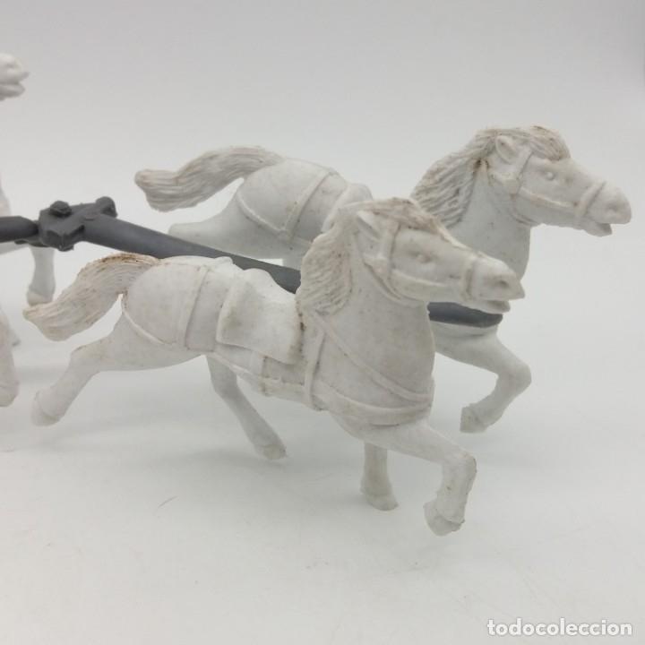 Figuras de Goma y PVC: Diligencia del oeste SOTORRES con caballos blancos - Foto 4 - 182433438